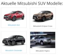 Mitsubishi SUV Modelle